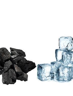gelo e carvão pirachopp